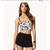 TD64 Celebrity Style Spiked Daisy Floral Print Bustier Crop croset Tank Top | eBay