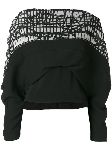 Chalayan blouse women draped black top