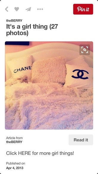 home accessory bedding chanel faux fur pillow girly pink chic bedroom chanel inspired