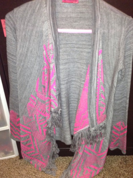 cardigan pink and grey cardigan by say what