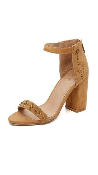 studded tan sandals studded sandals shoes