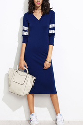 dress,blue-v-neck-long-sleeve-casual-dress,jersey dress,long sleeve dress,v neck dress,casual dress