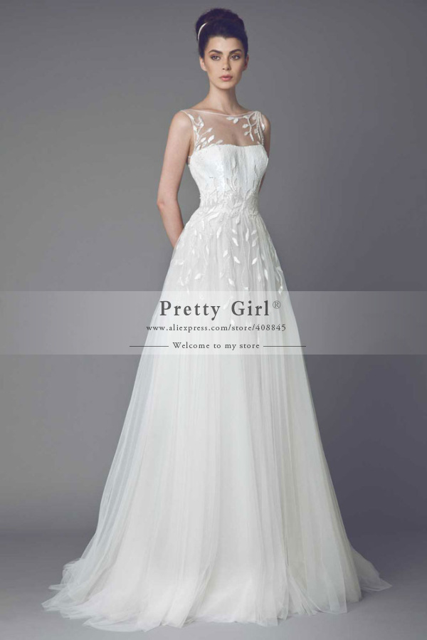 Buy romantic lace tulle vintage wedding for Wedding dress appliques suppliers
