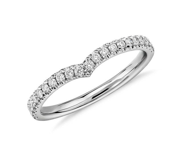 classic v curved diamond ring starting from 850 shop - How Much Do Wedding Rings Cost