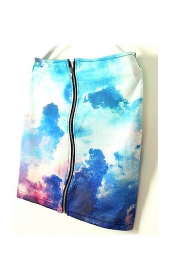 skirt dope style galaxy print space