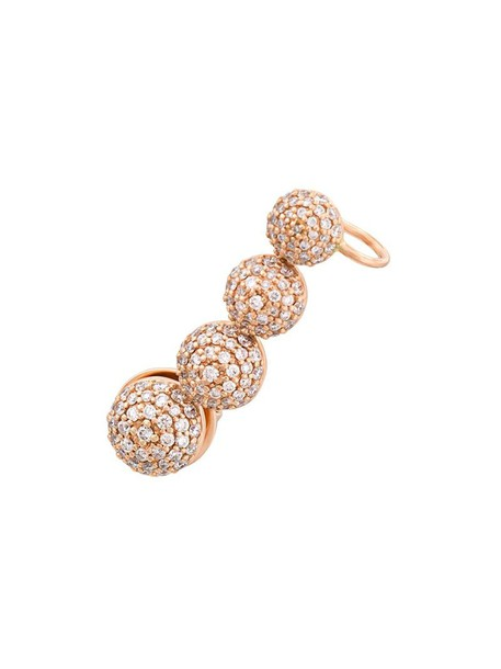 cuff rose gold rose women ear cuff gold grey metallic jewels