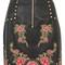 Embroidered studded mini skirt - black