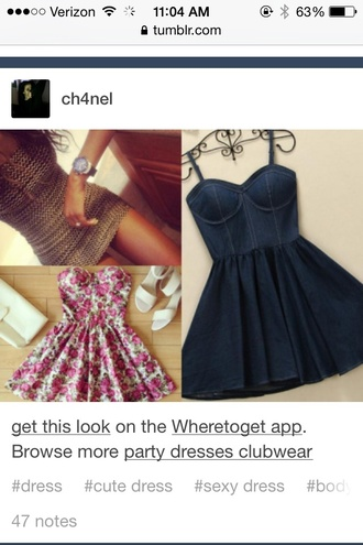 dress denim bustier dress