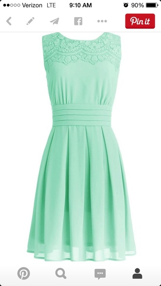 dress mint lace dress style spring summer dress