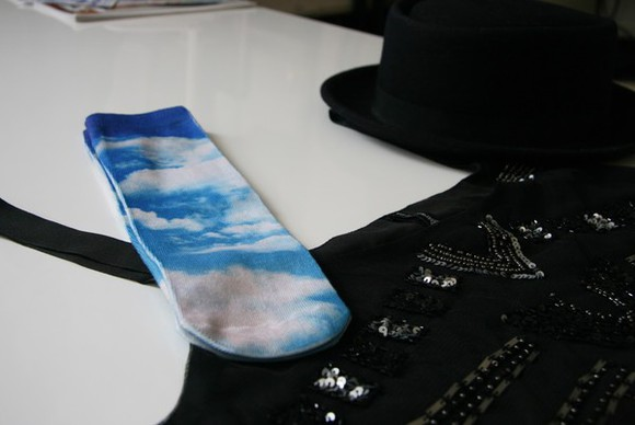 fashion socks sky clouds style original
