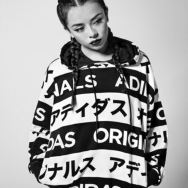 best website d463c da6dd sweater, black and white, adidas, japanese fashion, streetwe