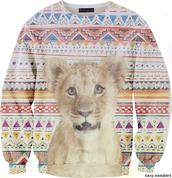 sweater,tribal pattern,clothes,sweatshirt