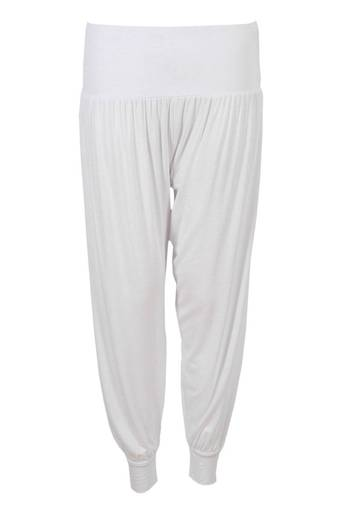 Frode Jersey Hareem Pant in White - Pop Couture