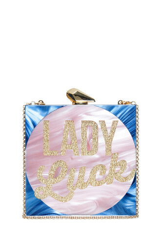 lady clutch blue bag