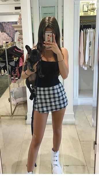 skirt checked skirt mini