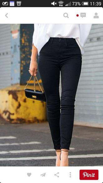 pants high waisted black pants
