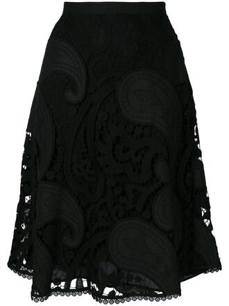 skirt women lace cotton black