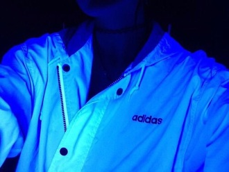 jacket adidas nike tumblr pale grunge neon bright black white adidas sweater adidas jacket tumblr jacket