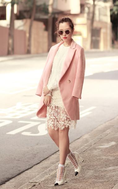 mellow mayo sunglasses jacket sweater skirt shoes t-shirt coat bag