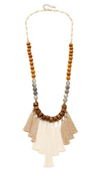 statement necklace statement necklace brown grey jewels