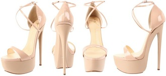 shoes giuseppe zanotti zanotti platform shoes heels nude nude high heels beige