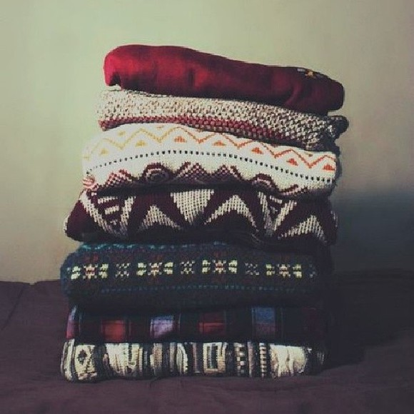 colourful sweater knitted patterns