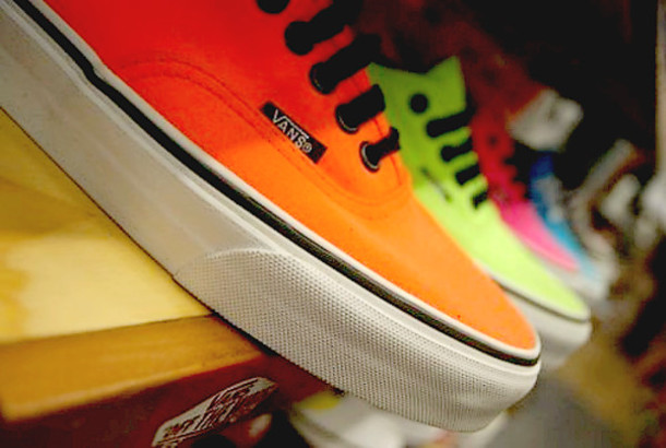 vans vans sneakers neon neon vans shoes