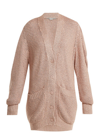 cardigan oversized knit light pink light pink sweater
