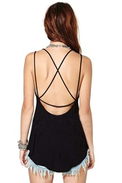 top,aliexpress,free shipping,black,yellow,crossed back,spaghetti strap