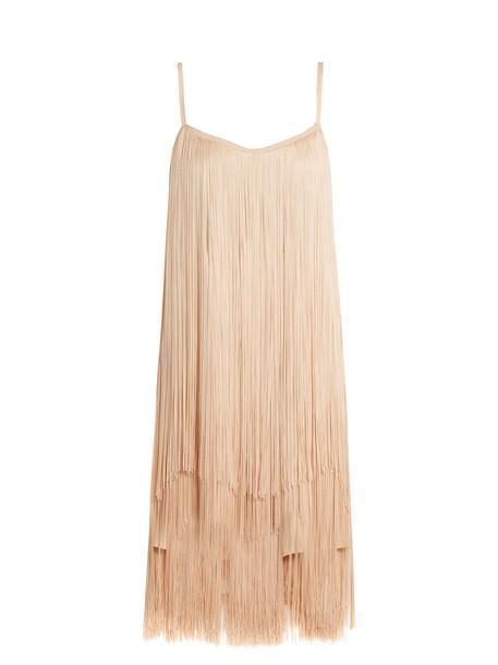 Raey dress slip dress long nude
