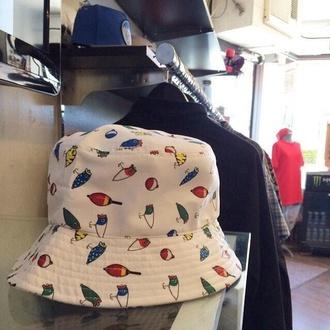 bucket hat hat fishing instagram twitter white hat
