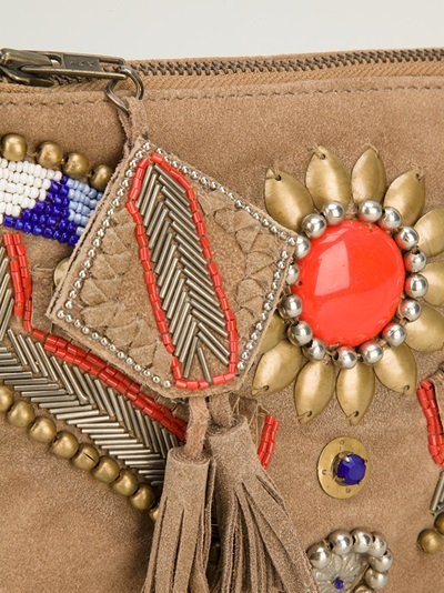Antik Batik Embellished Clutch -  - Farfetch.com