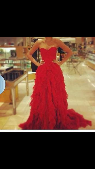 dress red prom dress red dress red prom dress ruffle