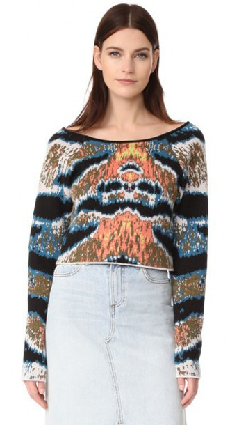 Baja East sweater cropped tiger