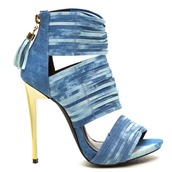shoes,heels,sandals,strappy,strappy shoes,strappy heels,strappy sandals,acid wash,denim,denim shoes,denim heels,denim sandals