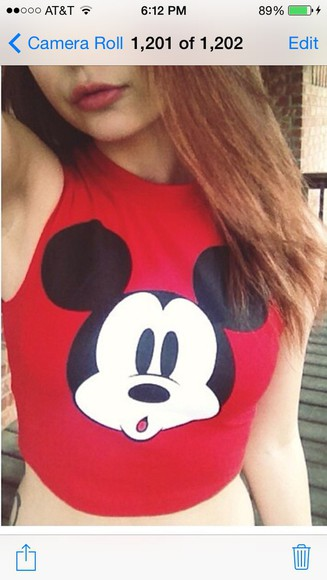 mickey mouse blouse