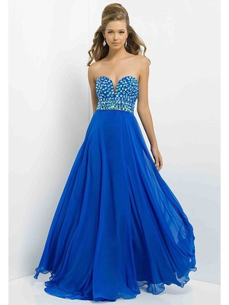 dress cobalt-blue gemstone prom dress