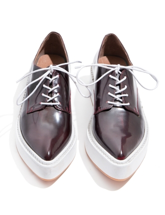 shoes jeffrey campbell pointed loafers spring shoes burgundy shoes