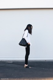 andy heart,blogger,black bag,bucket bag