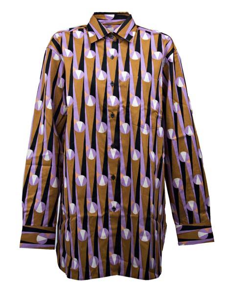 dries van noten shirt purple pink top
