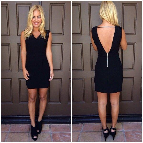 ustrendy dress ustrendy black dress little black dress little black dress v neck open back open back dresses homecoming dress dress