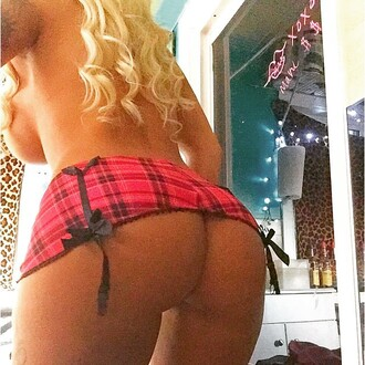 skirt plaid bows red short mini