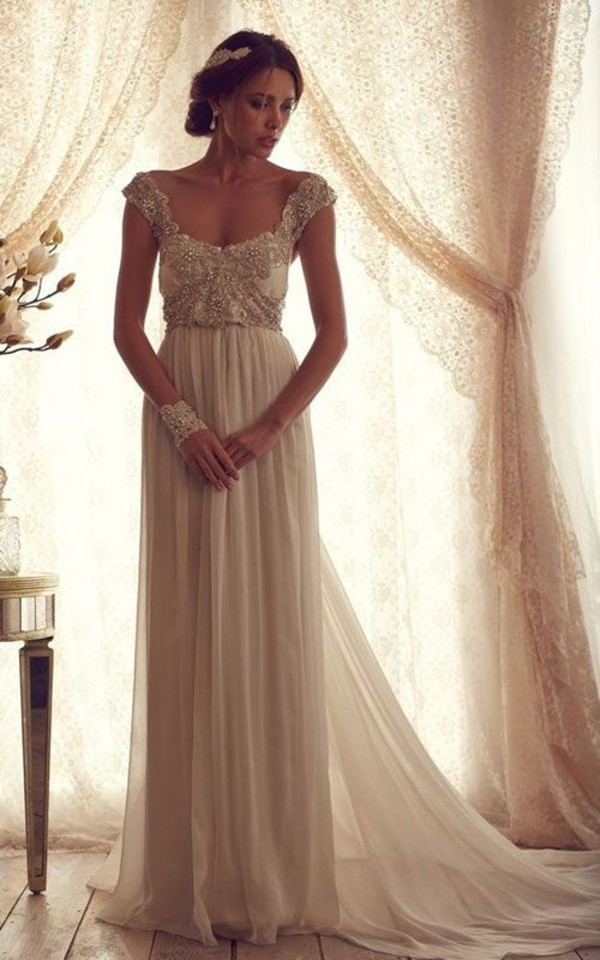 dress prom perfect prom dress elegant embellished dress wedding wedding dress beautiful shirt beaded gold short sleeve lace bride cream groom wear vintage dress vintage wedding dress cream dress fashion marriage vintage