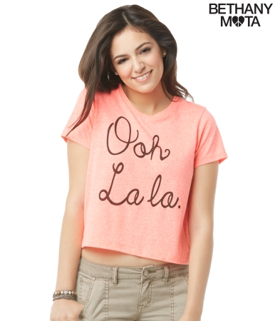 Ooh La La Cropped Graphic T -