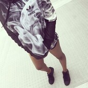 sweater,adidas,black and white,optical