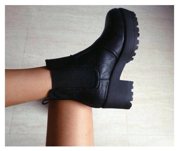 shoes black boots boots black platform shoes