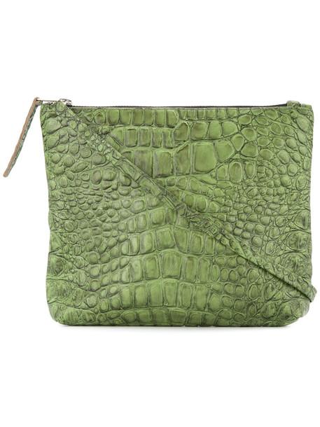Zambesi women bag crossbody bag leather green crocodile
