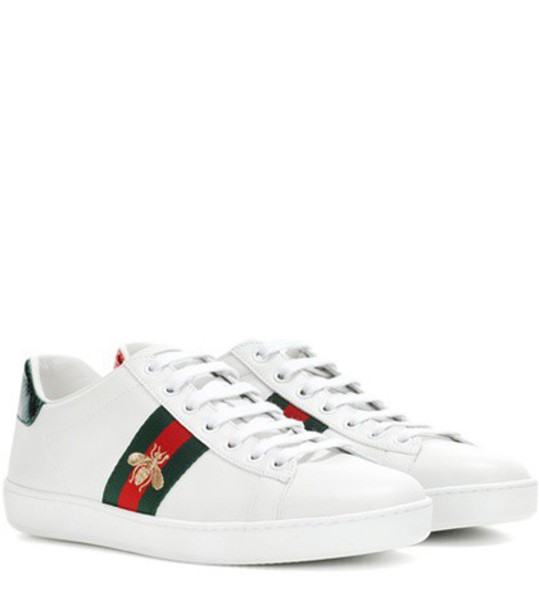 gucci sneakers leather white shoes