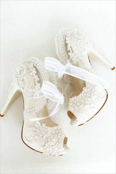 Lace Wedding Shoes.Shoes At Wheretoget