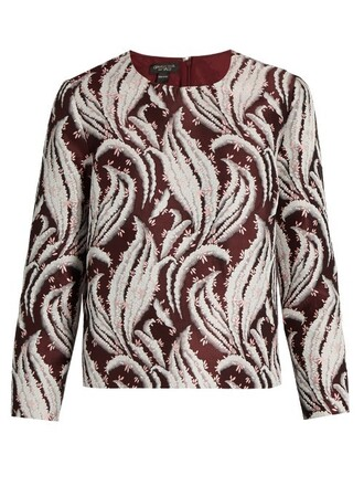 top jacquard burgundy